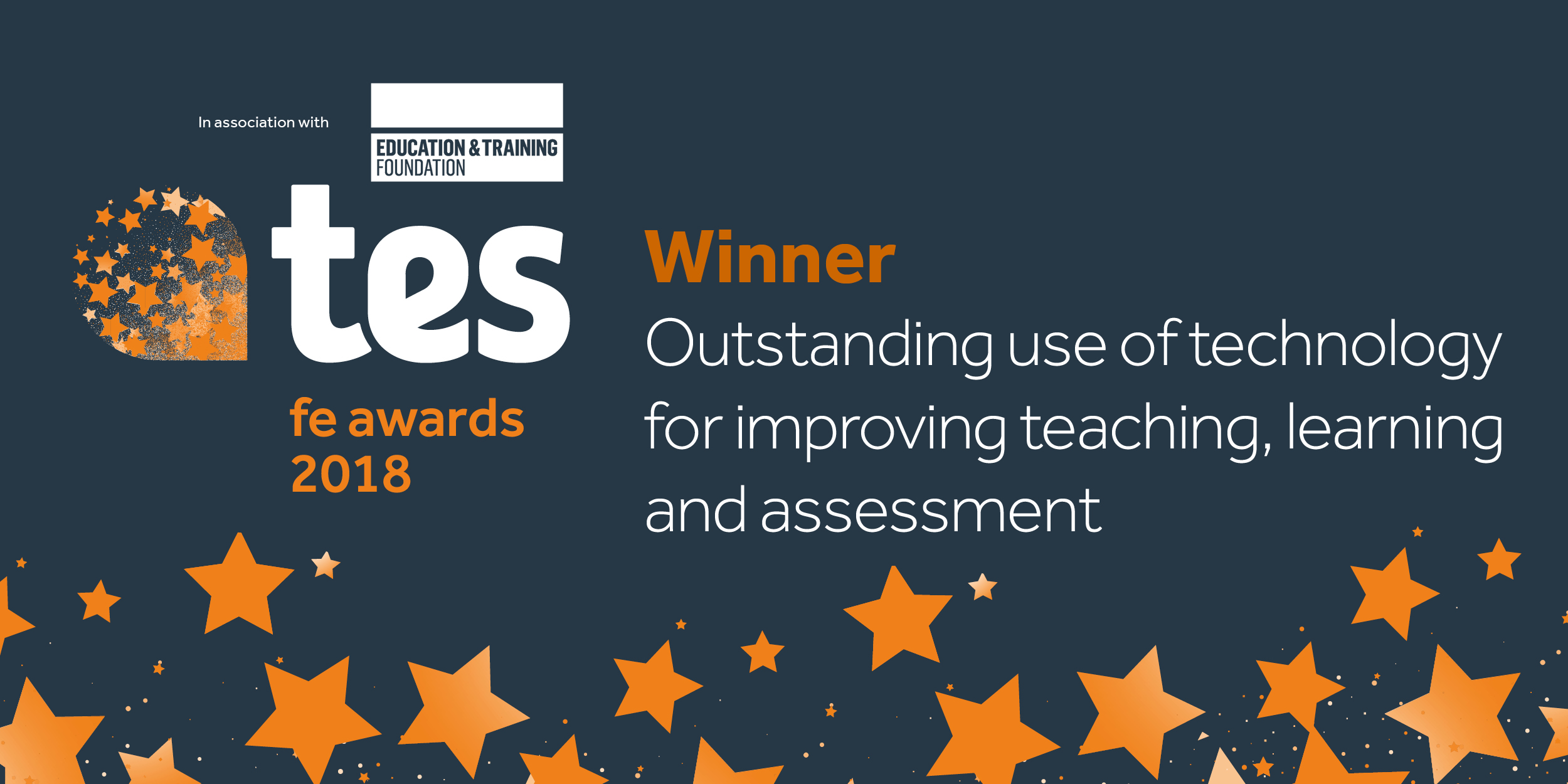 TES FE 2018 Winner twitter - Outstanding use of tech